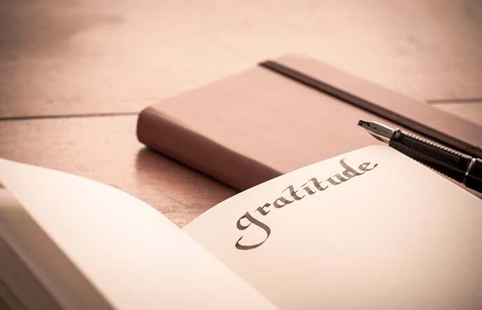 Keep A Gratitude Book