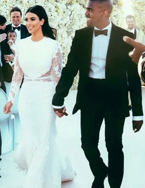 Best Celebrity Wedding Dresses - Kim Kardashian