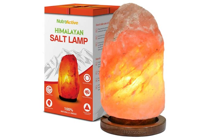 Himalayan Salt Lamp - NutroActive Himalayan Rock Salt Table Lamp