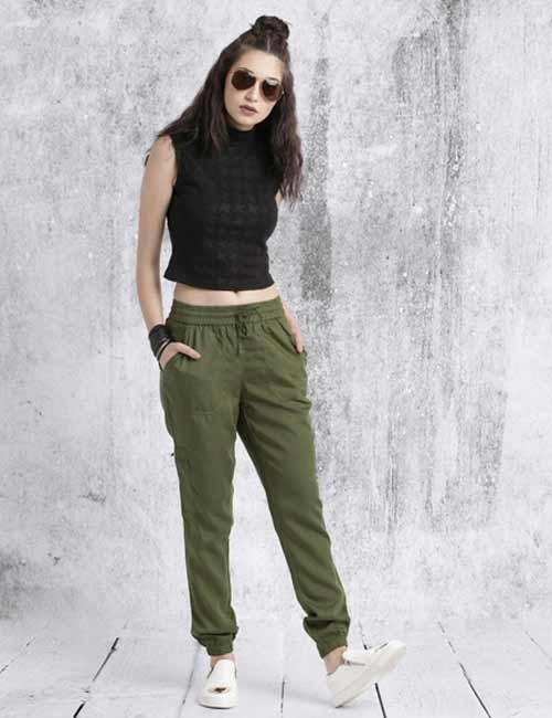 What To Wear With Olive Green Pants - Olive Green Jogger Pants