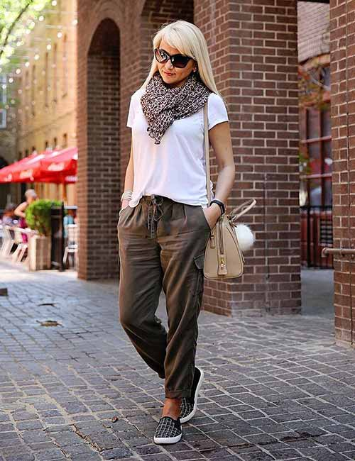 Olive Pants In Fall