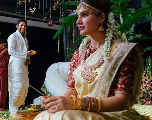 Best Photos Of Samantha In A Saree - Samantha's Wedding Saree
