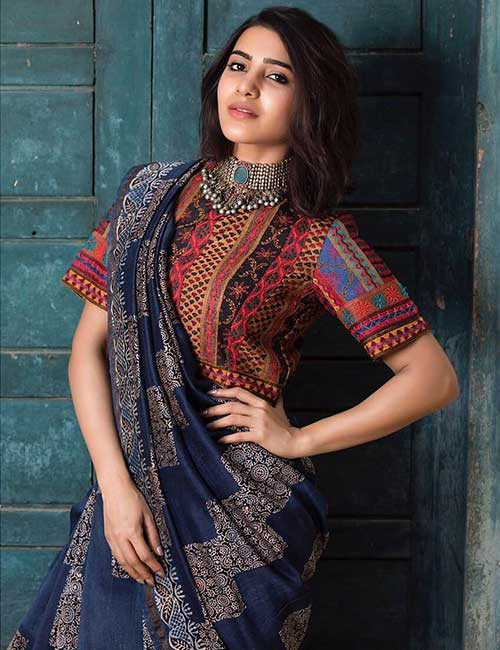 Best Photos Of Samantha In A Saree - Samantha In A Cotton Saree