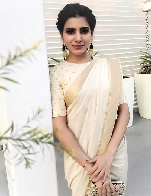 Best Photos Of Samantha In A Saree - Samantha In A Shilpa Reddy Official Saree
