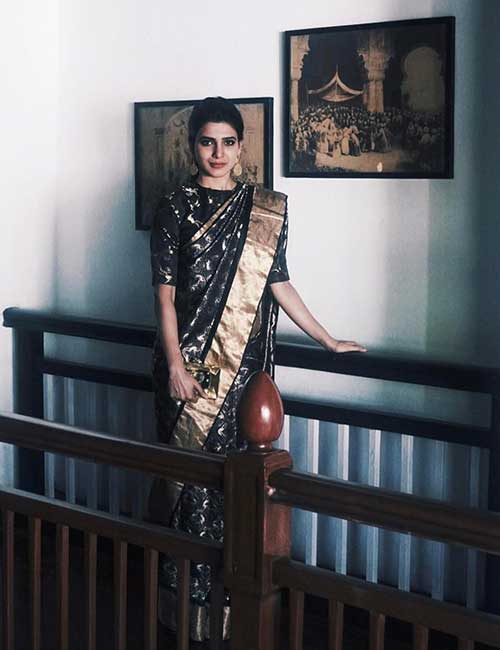 Samantha in Kanjeevaram Saree
