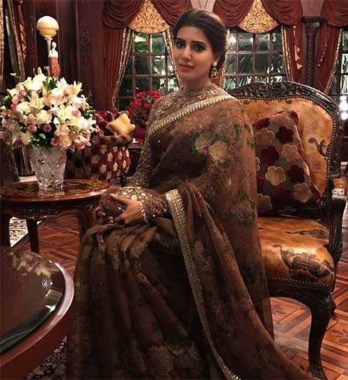 Best Photos Of Samantha In A Saree - Samantha In a Sabyasachi Saree