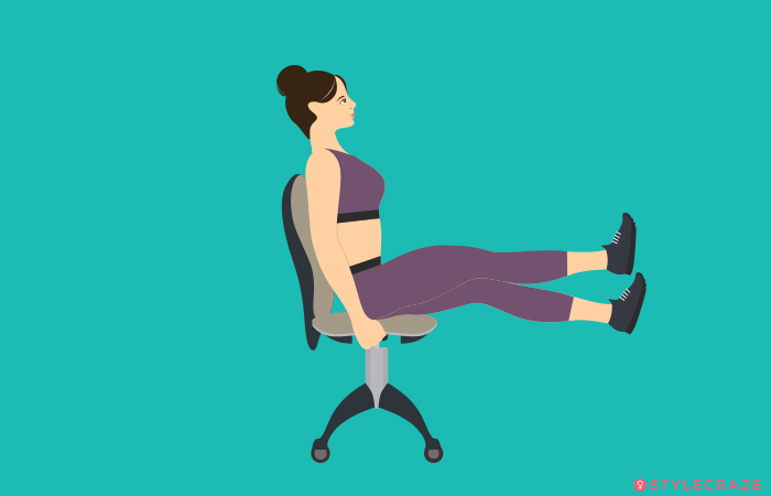 Scissor Workout On the Chair
