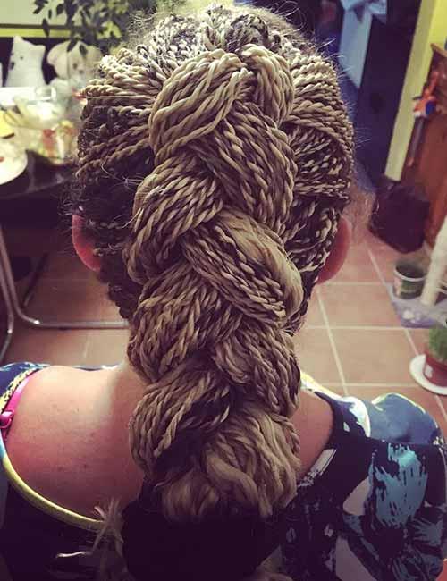 Senegalese Twists Hidden Underneath A Half Ponytail