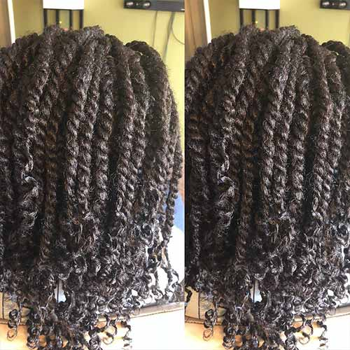 Senegalese Twists With Hair Left Loose