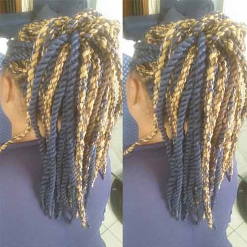 The High Ponytail Senegalese Twists