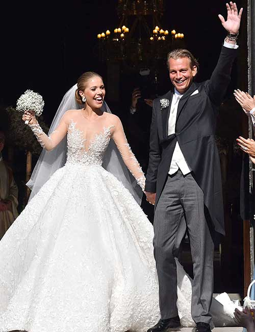 Best Celebrity Wedding Dresses - Victoria Swarovski