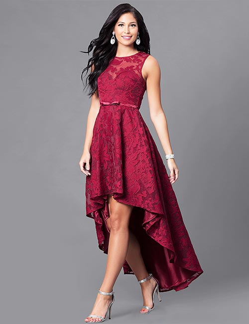 1. Asymmetrical Fall Guest Wedding Dress