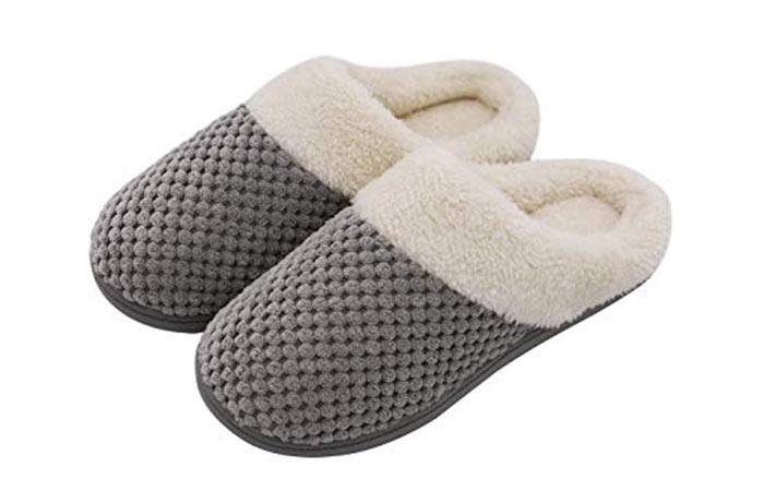 1. Memory Foam Warm Slippers