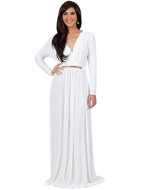 12. Long Sleeves Kaftan Style Semi-Formal Fall Wedding Dress