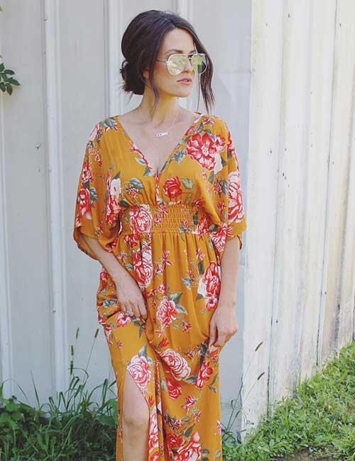 13. Floral Maxi Dress For Guests