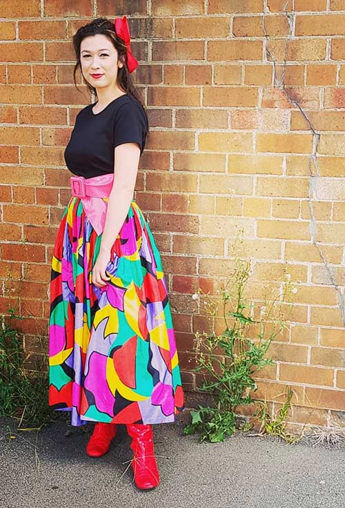 Best 80s Fashion Trends - Vintage Long Skirt