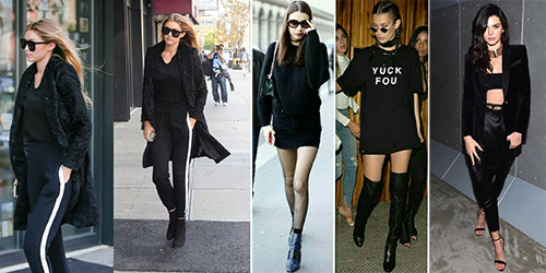 Celebrity All Black Outfits - All Black Outfits