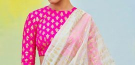 20 Latest Plain Sarees With Designer Blouses