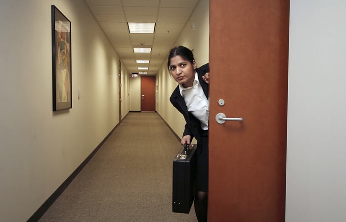 4. Entering your office