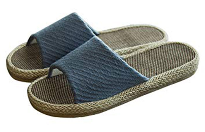7. Washable Linen Slippers For Summers