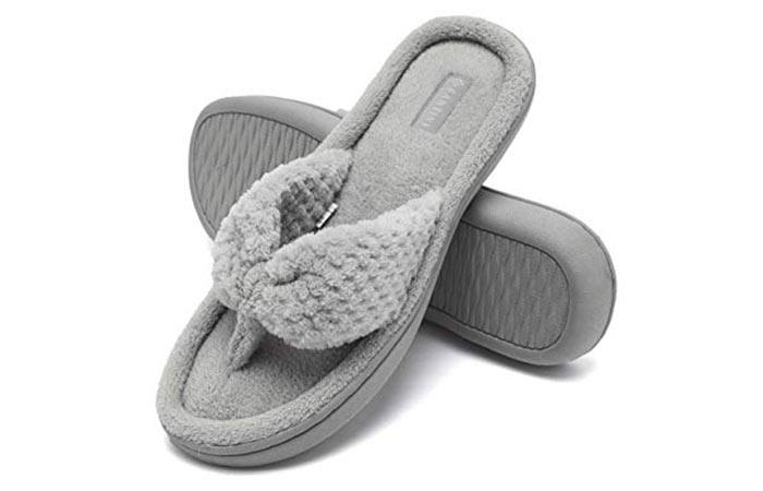 8. Memory Foam Spa Thong Slippers