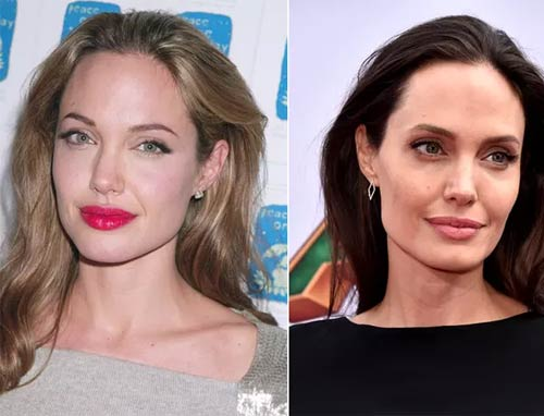 Blonde And Brunette Hair - Angelina Jolie