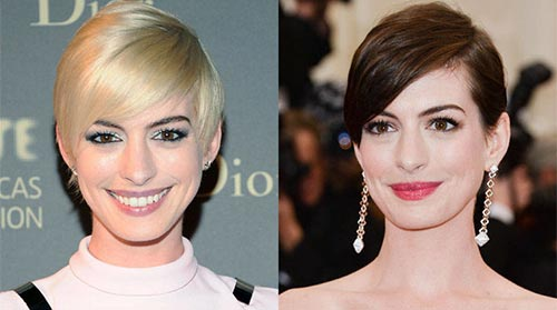 Blonde And Brunette Hair - Anne Hathaway