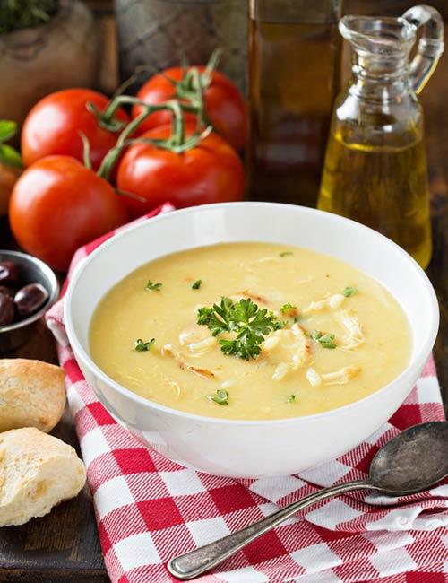Blended Couscous Mushroom Chicken Soup