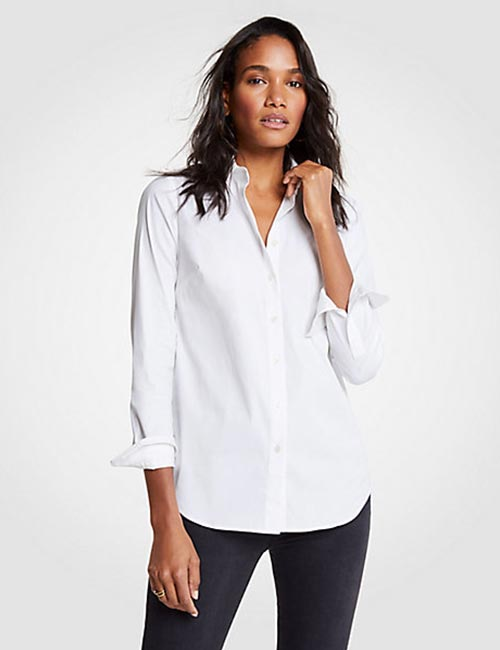 Classic Button Down Shirt With Pencil Trousers