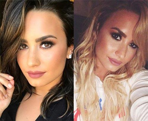 Blonde And Brunette Hair - Demi Lovato