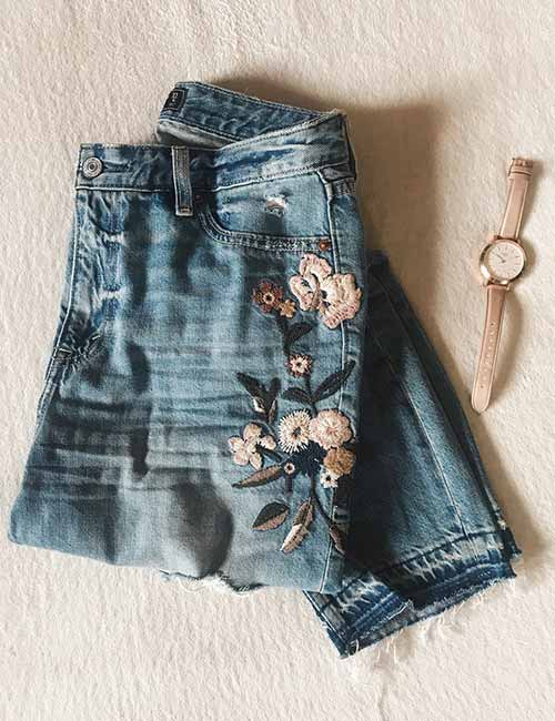 Embroidered Denims