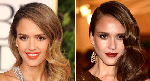 Blonde And Brunette Hair - Jessica Alba