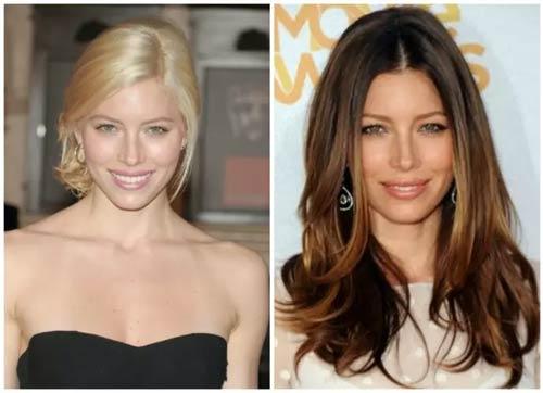 Blonde And Brunette Hair - Jessica Biel