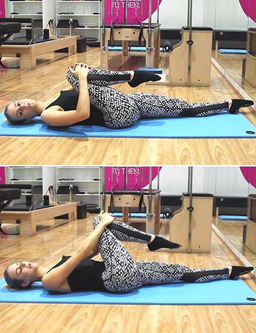 Best Sciatica Exercises And Stretches For Pain Relief - Knee To Opposite Shoulder