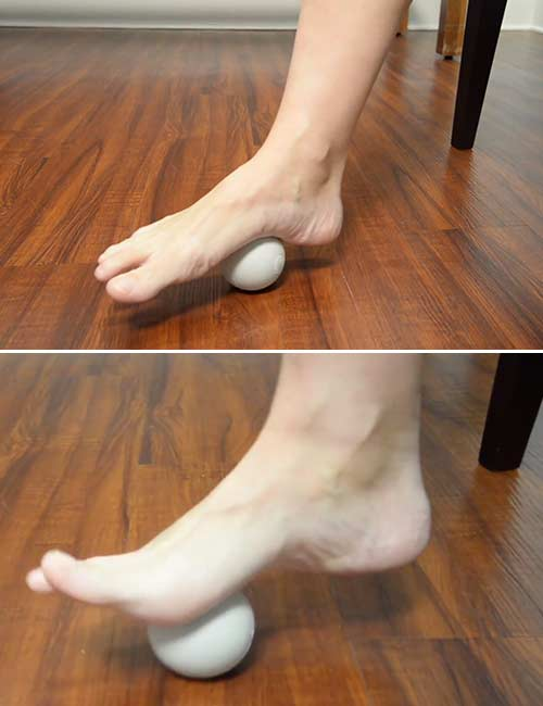 Plantar Fasciitis Tennis Ball Roll
