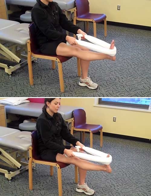Plantar Fasciitis Towel Stretch
