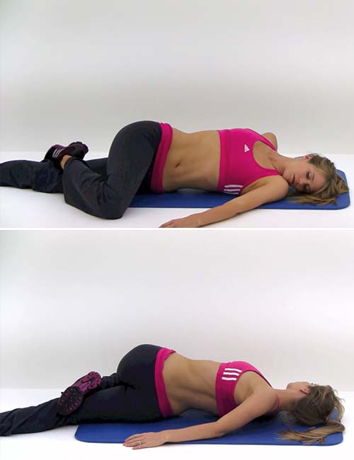 Best Sciatica Exercises And Stretches For Pain Relief - Prone Torso Twist