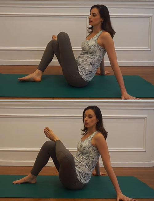 Best Sciatica Exercises And Stretches For Pain Relief - Seated Pigeon Pose