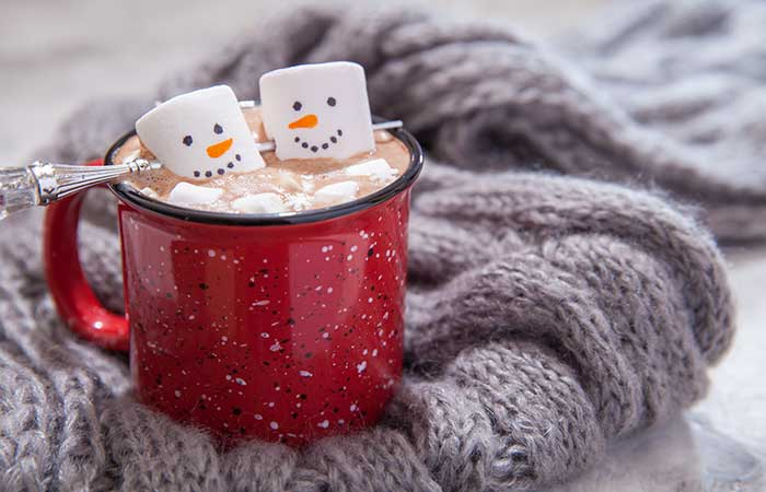 There is nothing more comforting than a cup of hot chocolate and candy