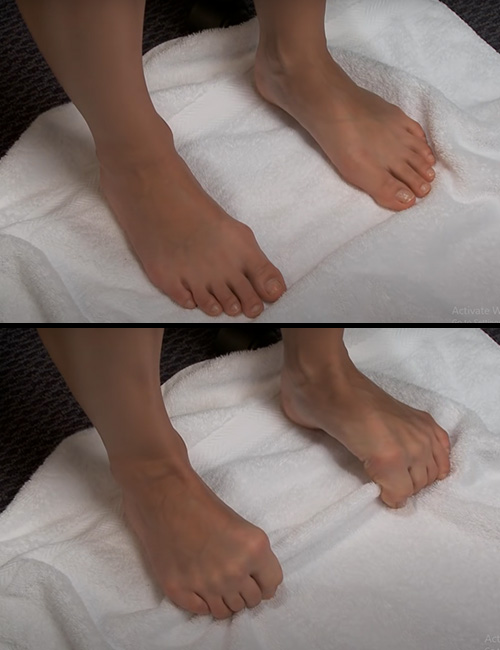 Toe Curls With Towel