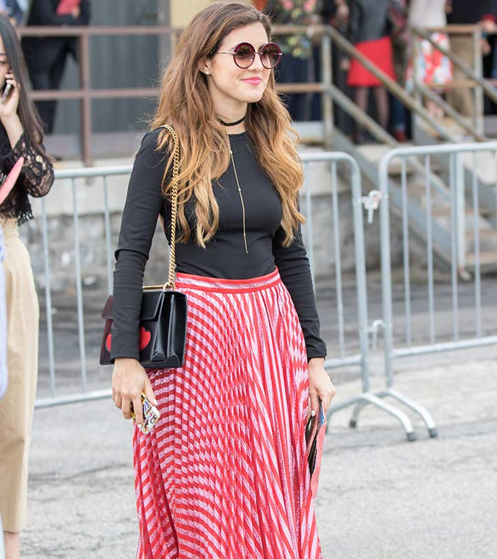a6d2f602b705c0 17 Best Ways To Wear A Pleated Skirt - A Guide To Various Styles