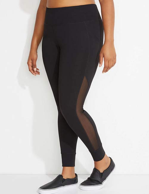 8580ee869b4 Yoga Pants For Women - Plus Size Mesh Splicing Leggings From Lane Bryant