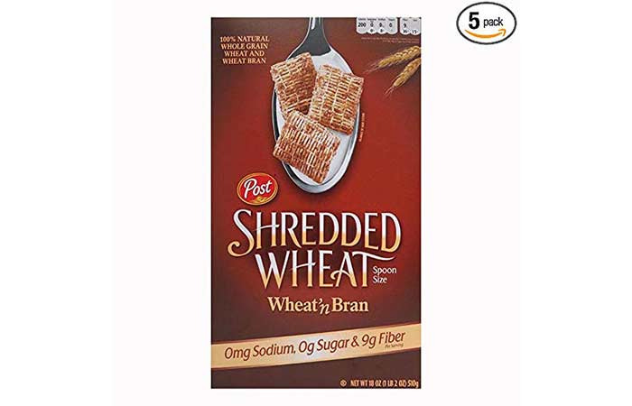 4. Post Shredded Wheat Spoon Size Wheat'n Bran