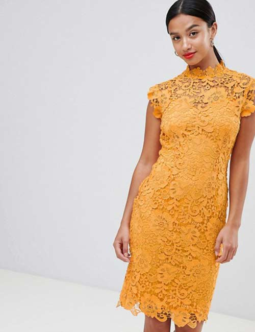 Crochet Lace Outfits - Yellow Crochet Summer Dress