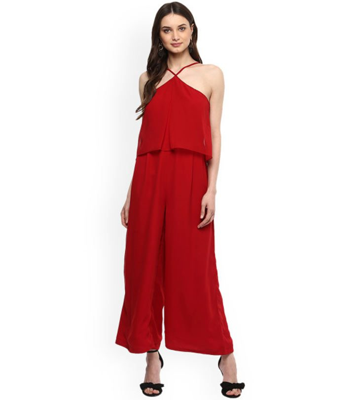 Halter Dress Ideas - Chiffon Halter Jumpsuit