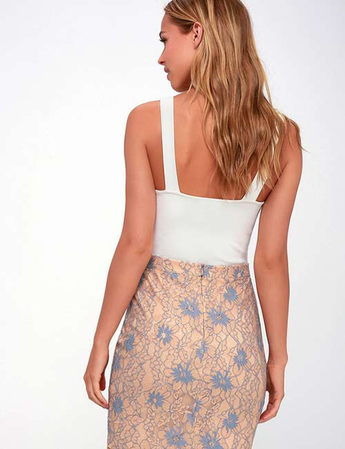Crochet Lace Outfits - Lace Pencil Skirt
