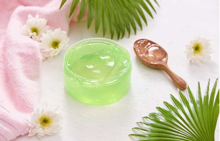 A Simple Mixture Of Aloe Vera Gel And Olive Oil