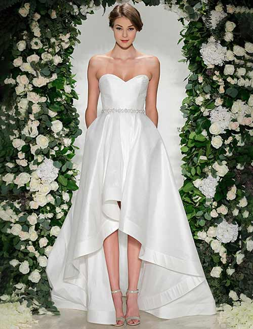 Affordable Wedding Dresses - Asymmetrical Satin Dress