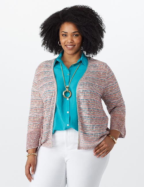Best Plus Size Cardigans - Bell Sleeves Sweater Style Cardigan