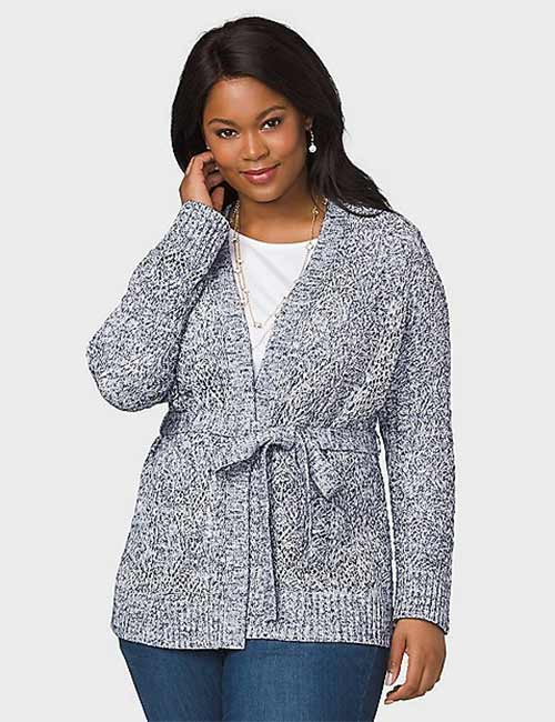 Best Plus Size Cardigans - Belted Cardigan